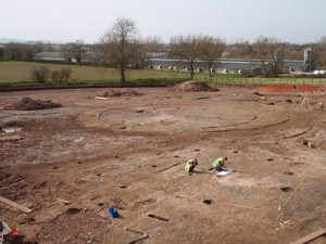 Taunton roundhouse: Excavations at the new park and ride facility at Taunton Somerset. Permission: Somerset CC, R Croft.