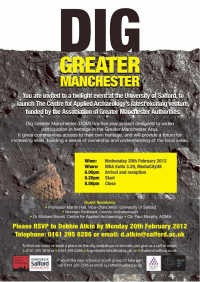 Dig Greater Manchester launch flyer