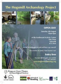 Hogsmill open day poster.